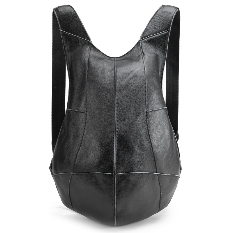 Man Woman Backpack Genuine Leather Shoulder Anti-theft Back Zipper Ipad Phone Pocket Pouch Business Travel Mochila Escolar Gifts