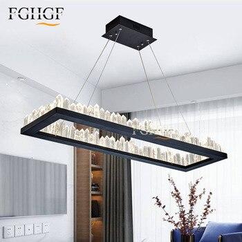 New Design Modern LED Crystal Chandeliers Light Black Natural Crystal Lamp lustres de cristal Dinning Room Bedroom Bar Lamp