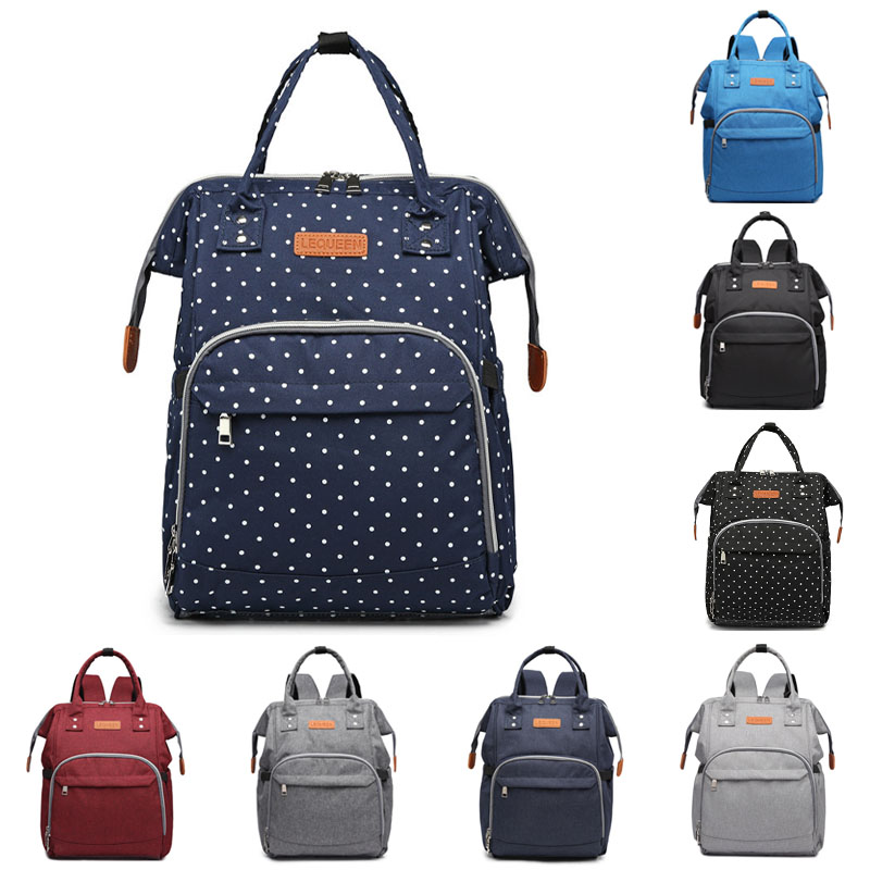 Lequeen diaper bag Bebe accessories backpack for mom and baby maternity multi-function waterproof wet bag baby travel bag
