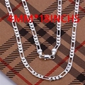 CN3 Hotsale New Items / Men Jewelry / High Quality / 925 jewelry silver plated 4MM Figaro Chain Necklace