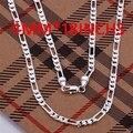 Cn3 Hotsale nueva artículos / hombres joyería / alto Quality / 925 joyería de plata de 4 MM Figaro collar de cadena