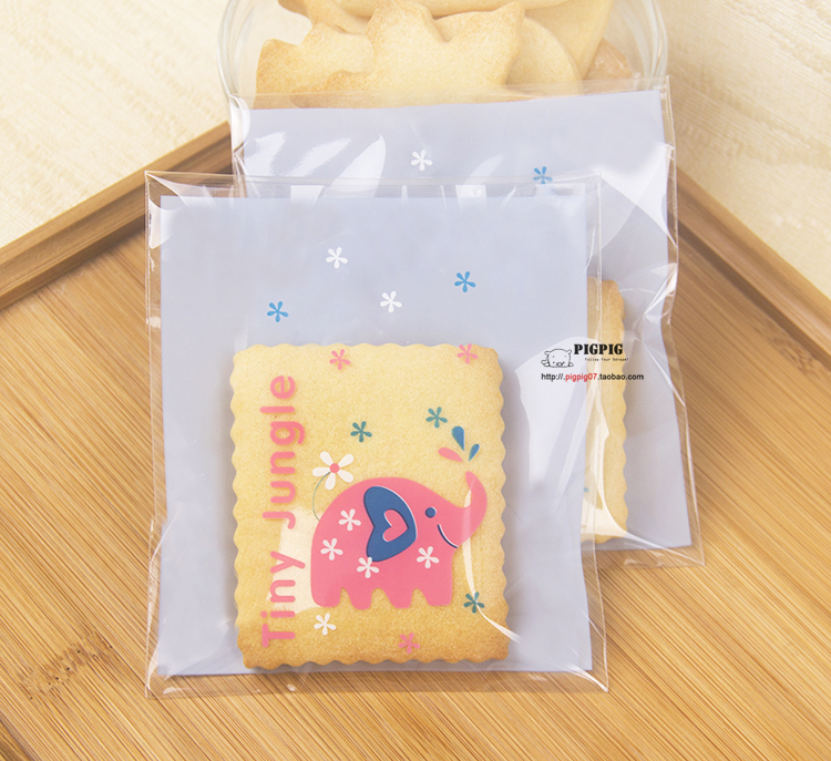 100pcs Lot 10x11 3cm Cute Pink Elephant Bakery Packaging Bags Mini Cookie Chocolate Candy Plastic Cello Sg1059 On Aliexpress Alibaba Group
