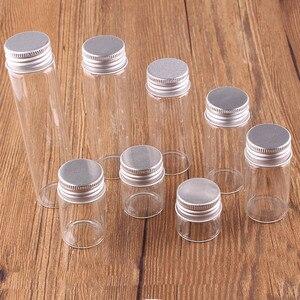 Image 3 - 10 ml 15 ml 20 ml 25 ml 30 ml (1 OZ) 40 ml 50 ml 60 ml (2 OZ) transparant Glas Spice Flessen Potten Terrarium met Zilveren Schroefdop Deksel 24 stks