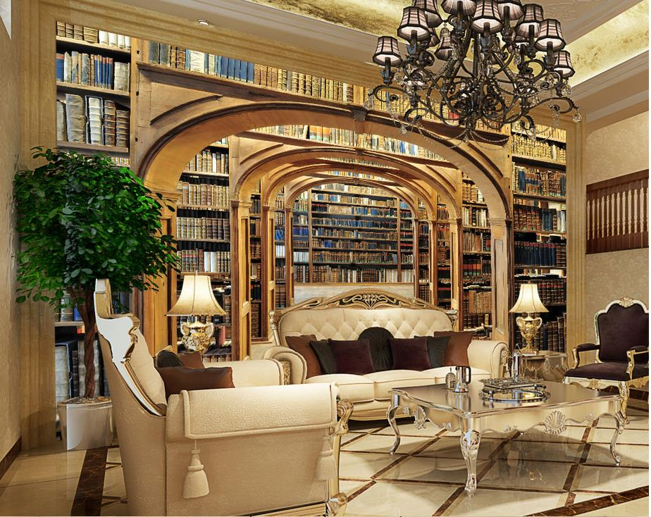 Custom Mural Photo 3d Room Wallpaper Library Parliament Railings Tv Backdrop Wall Painting 3d Wall Murals Wallpaper For Wall 3 D Beautiful And Charming Painting Supplies & Wall Treatments