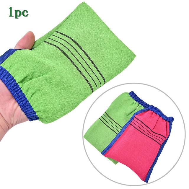 1pc Shower Spa Exfoliator Two-sided Bath Glove Body Cleaning Scrub Mitt Rub Dead Skin Removal Magic Peeling Glove 1