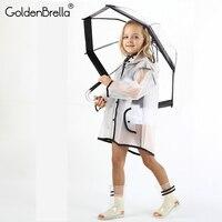 2018 прозрачный водонепроницаемый детский непромокаемый плащ EVA дождевик ветрозащитное пончо для девочек детский дождевик