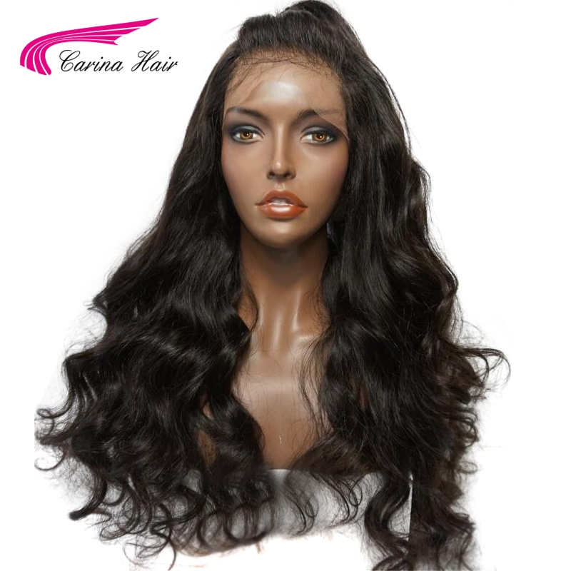 Carina Hair Peruvian Remy Hair 360 Lace Frontal Wigs For Black Women Body Wave Natural Color Pre Plucked Natural Hairline