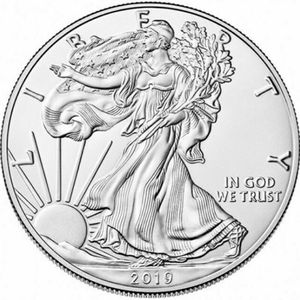 free shipping 2019 Statue of Liberty Commemorative Coin 1 oz Fine Silver One Dollar Coins Collectibles US America Coins(China)