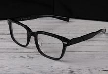 Glasses frame female male wide-brimmed glasses thick frame retro fashion business black box plate spring legs big face