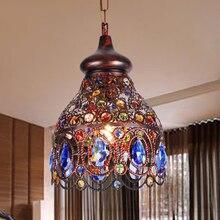 Southeast Asia Thai pendant lamps color crystal Mediterranean Bohemian restaurant aisle corridor lamps Turkish lamp ZA626 ZL53