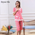 New Hot Sale Spring Summer Autumn Women Cotton Pajama Sets Home wear, Sleepwear Soft Cheap Piijamas Lace Decoration