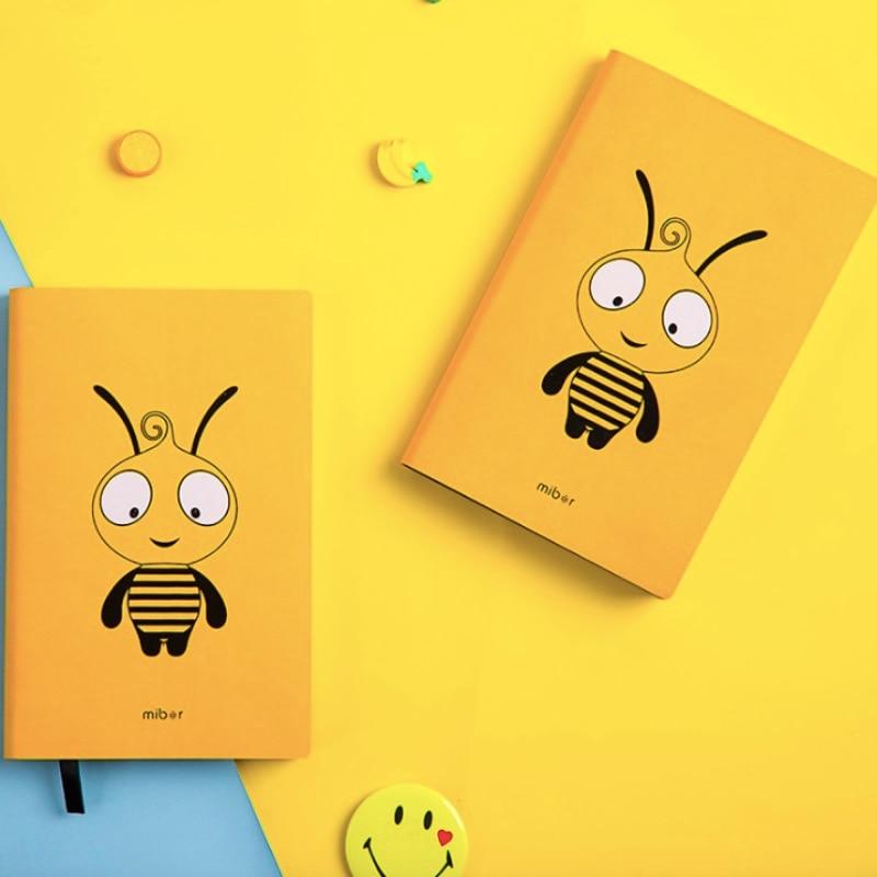 Diary Notebook Cute Yellow Bee A6 Planner Organizer DIY Agenda Journals Note Book Mini Personal Handbook Gift Student