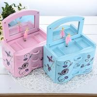 Music Boxes Rectangle Swivel Piano Musical Box Ornaments Heart-shape Rotating Ballerina Girl Cool   Home   Decoration   Accessories
