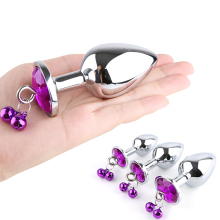 купить Metal Anal Plug Removable Jewel Decoration Butt Plug Anal Sex Toys Prostate Massager Adult Anus Toys For Women Man Gay Couples в интернет-магазине
