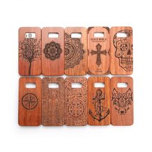 For Samsung Galaxy S8 S 8 Case Luxury Natural Wood Phone Cover Wooden High Quality Shockproof