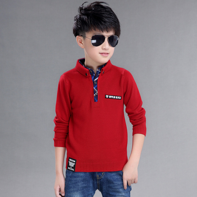 2017 Fashion High Quality Cotton Clothing  Hedging  Stand up collar Sweater Winter New Children's clothing boys Sweater