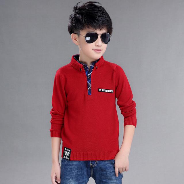 2017 Moda de Alta Qualidade Roupas de Algodão Hedging Stand up collar Camisola roupas de Inverno Novas Crianças meninos Camisola