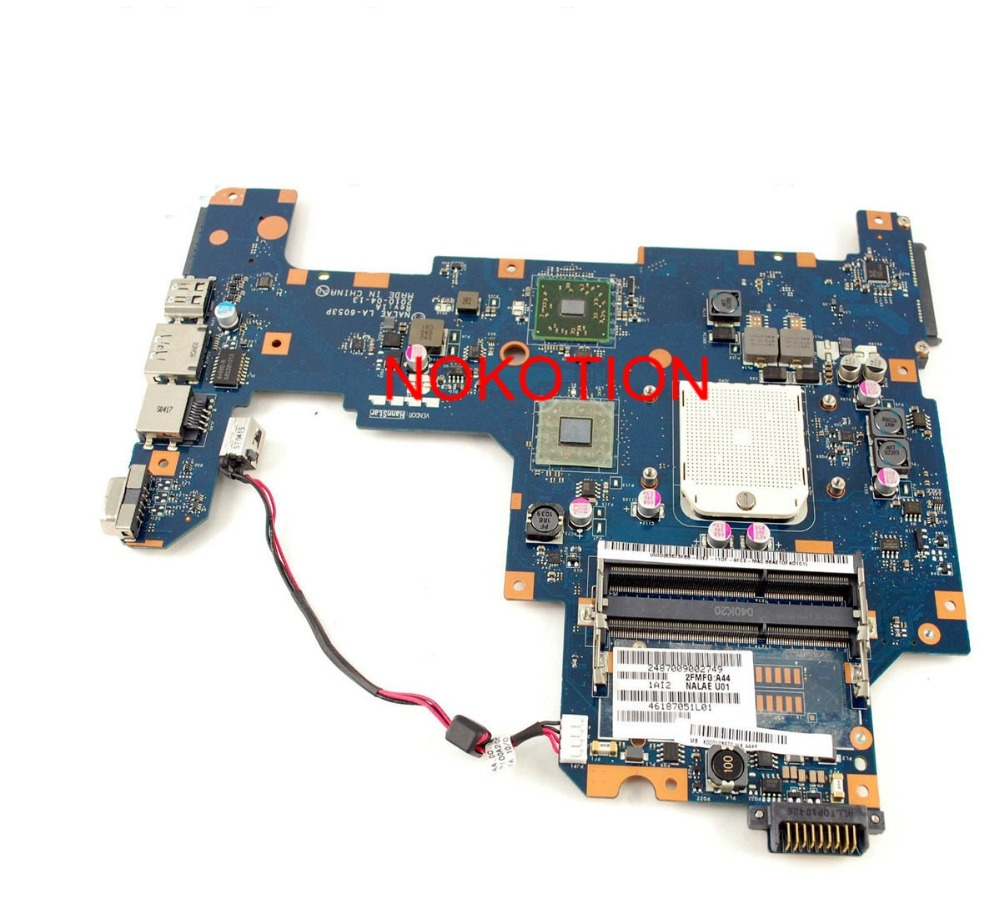 все цены на  NOKOTION K000103970 LA-6053P laptop Motherboard for Toshiba L670D L675D DDR3 ATI Mobility Radeon HD4200 free cpu mainboard  онлайн