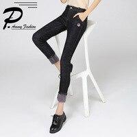 2017 Super Warm Thick Stretch Jeans Pants Women Ladies Winter Soft Fleece Denim Trousers Female Jeans