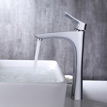 Micoe Basin Faucet Bathroom Basin Tap Deck Mounted Waterfall Chrome Tap Hot Cold Water Faucet Contemporary Chrome Faucet H-HC216