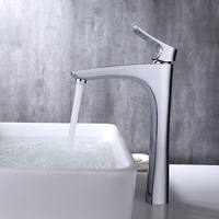 Micoe Basin Faucet Bathroom Basin Tap Deck Mounted Waterfall Chrome Tap Hot Cold Water Faucet Contemporary Chrome Faucet H HC216
