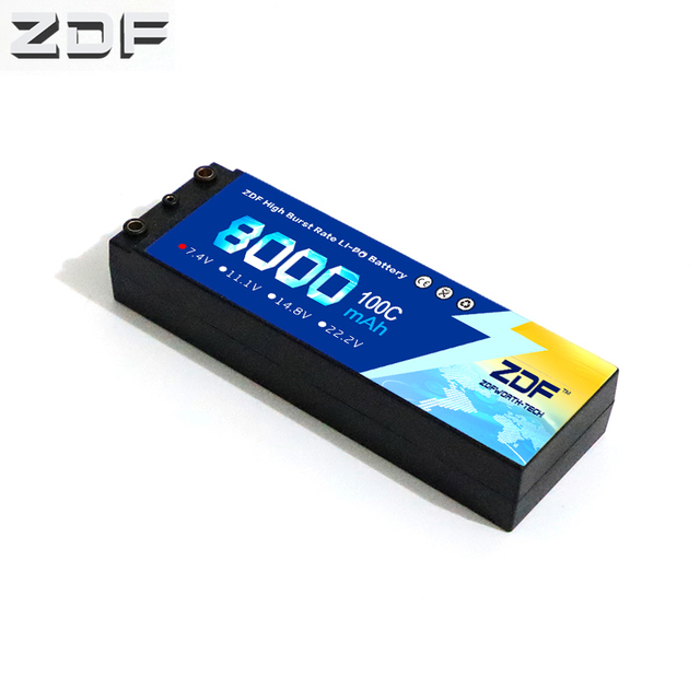 ZDF RC Car Lipo Battery 2S 2P 7.4V 8000mah 100C Max 200C Hard Case For Airplane Traxxas Car RC Truck Support wholesale