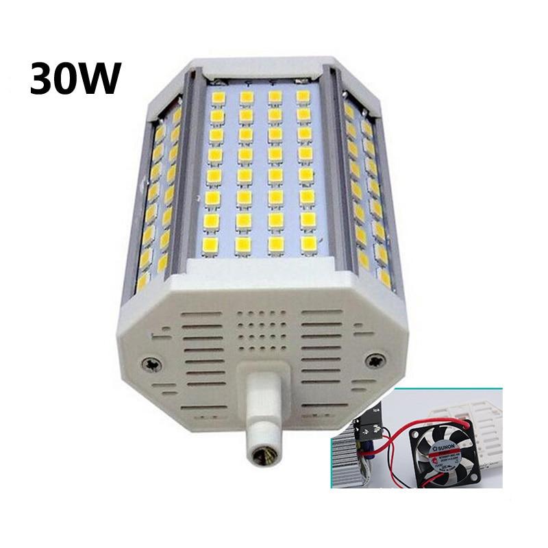Высокая мощность 118 мм Светодиодная лампа R7S 30 Вт с регулируемой яркостью J118 R7S SpoltLight лампа AC110-240V с регулируемой яркостью/без затемнения