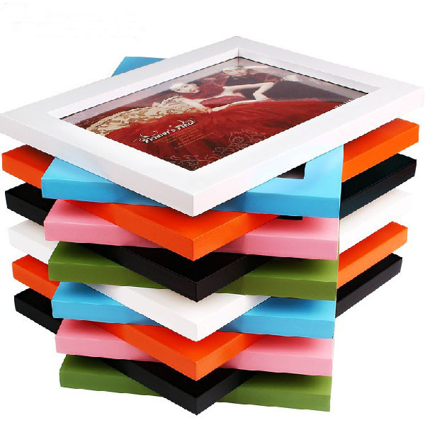 simple wholesale colorful wooden photo picture frame display wall home desk decor giftchina