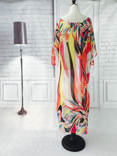 Beach Kaftan Cover-Up Chiffon Bikini Tunic