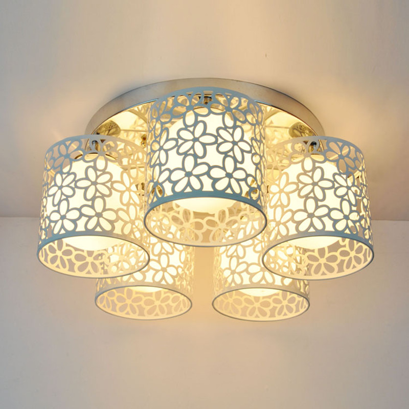 Simple Modern LED ceiling lights for home lighting 3/5 lights romantic art style lamparas de techo Living room Bedroom luminaria bdbqbl modern simple creative iron wall lamp led bedroom bedside living room lighting fixture lamparas de techo pared