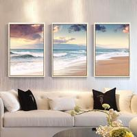 Diamond Painting Full Diamond Living Room Painting 2018 New Triptych Beach Landscape Paste Drilling Cross Stitch