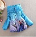 Winter Girls Coat Long Sleeve Snow Queen Girl Children Outwear Coat Cotton Paddad Kids Clothing Outfits Jackets Christmas Gifts