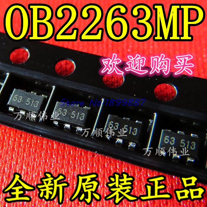 10pcs/lot <font><b>OB2263MP</b></font> OB2263 2263 SOT23-6 Current Mode PWM Controlle In Stock image