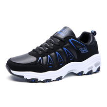 2016 Running Shoes Men Sport Sneaker Autumn/Winter Mens Gym Sneakers Non-Slip Barefoot Shoes Men Leather Athletic Shoes For Men