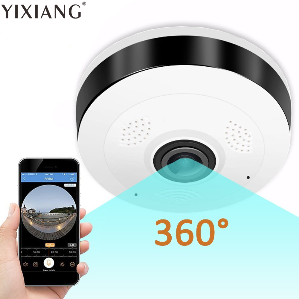YIXIANG 360 Degree Wireless Panoramic IP Camera Support IR Night Motion Detection for Home Security нивелир ada cube 2 360 home edition a00448