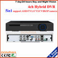 El envío gratuito! Grabador de Vídeo H.264 4CH 1080N 5en1 4CH DVR AHD/TVI/CVI/CVBS/soporte de Cámara IP Onvif para el kit de sistema de seguridad