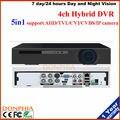 Frete grátis! Gravador de Vídeo H.264 4CH 1080N 5in1 4CH AHD DVR/TVI/CVI/CVBS/Câmera IP suporte Onvif para o sistema de segurança kit