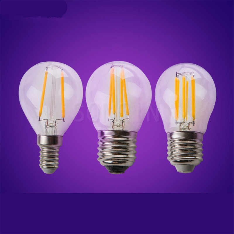 1pcs Super Bright Retro LED Filament Light lamp E27 E14 E40 6W 9W 18W 24W 110V / 220V G45 A60 Clear