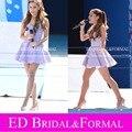 Ariana Grande lavanda vestido de novia de satén corto vestido de fiesta vestido de la celebridad vestido de festa curto