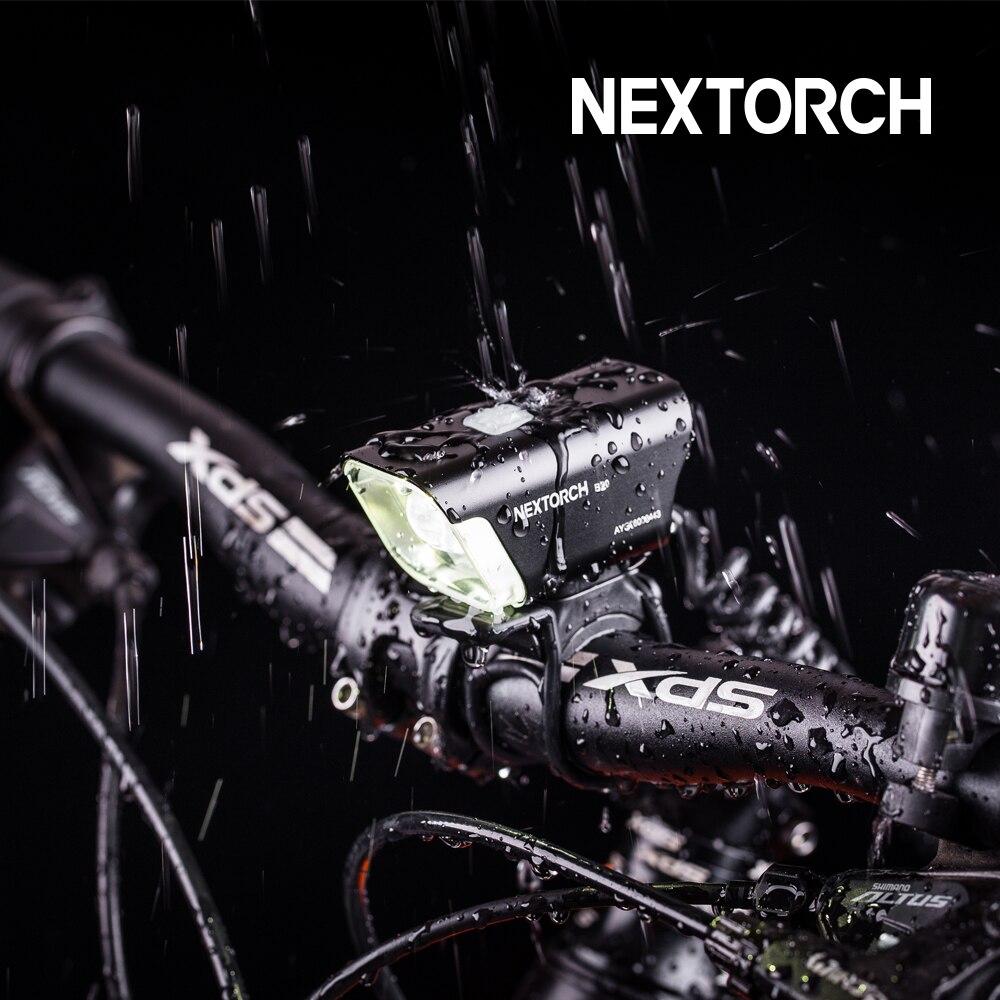 NEXTORCH 700 люмен велосипед света с дистанционным Давление коммутатора 160 градусов широкий 100 м Водонепроницаемый велосипедов фонарик факел B20