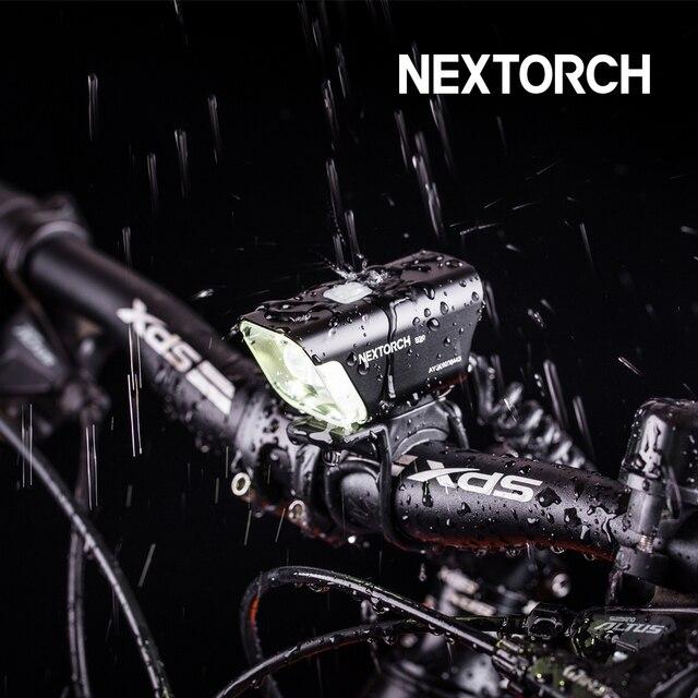 NEXTORCH 700 Lumens Bike Light with Remote Pressure Switch 160 Degree Wide 100 Meter Waterproof  Bicycle Flashlight Torch B20