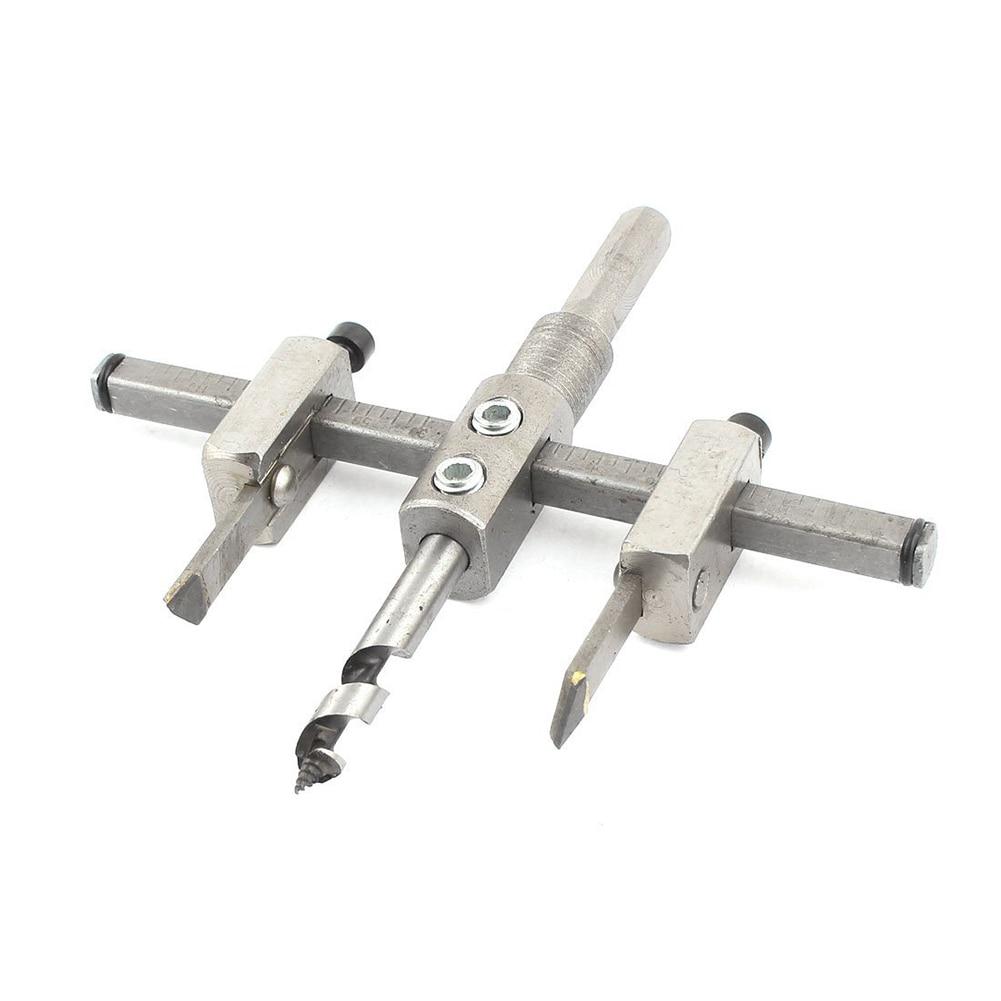 цена на DSHA Hot Sale Handy Adjustable Metal 30mm-120mm Circle Hole Saw Drill Bit Cutter Kit