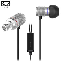 KZ HDS3 Mini Earphone Silver Exquisite Shiny Lightweight Monitoring In Ear Metal Dynamic Drive Ship from Germany With Microphone(China)