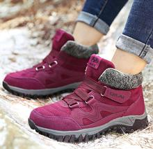 New Classic Women Winter Boots Suede Ankle Snow Boots Female Warm Plush High Quality Wedge Snow Waterproof Non-slip Boot
