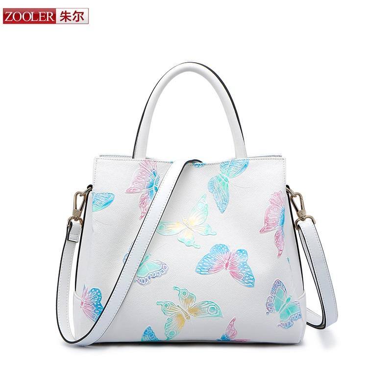 ZOOLER 2017 New Arrival Genuine Leather Bags Woman Handbags Top-Quality Fashion Design Ladies Shoulder Bags Large Capacity 2960 zooler 2017 new arrival genuine leather handbags woman design top quality crossbody bag luxury brand red ladies bags hs 3211