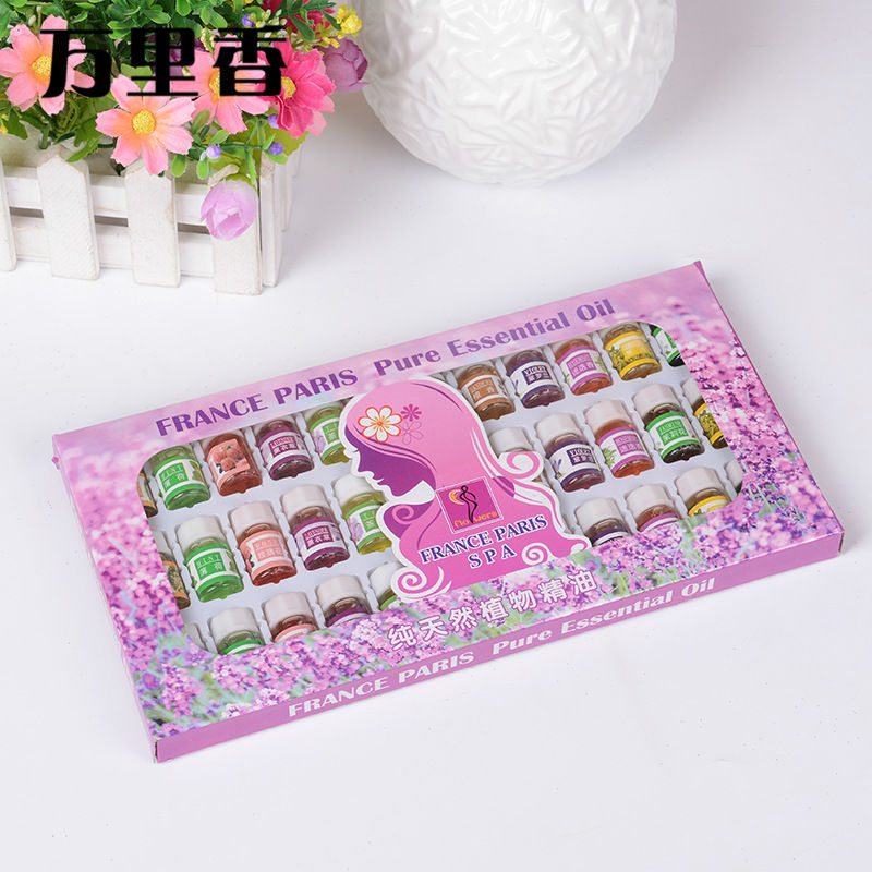 Hautpflege 12 Arten 36 STÜCKE wasserlösliche 100% Reine Lavendel Ätherische Öle Pack Set Für Aromatherapie Massage Spa bad Duft
