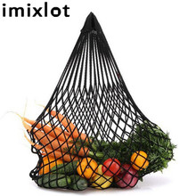 Imixlot Multifuction 1Pc Fruits & Vegetable Shopping String Cotton Net Mesh Bag For Sun Clothes Toys Basketball Storage Bags