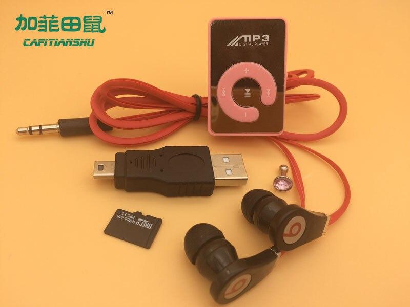 Hot sale Big promotion Mirror Portable MP3 player Mini font b Clip b font MP3 Player