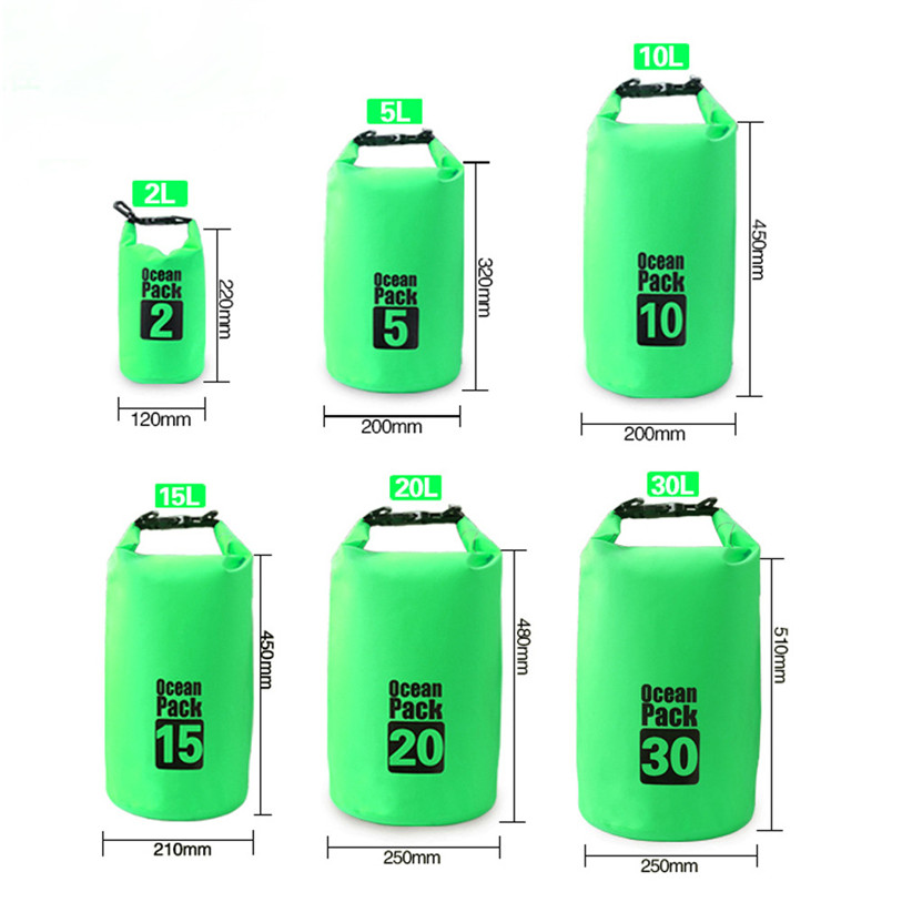 Waterproof Dry Bag Outdoor Sport Swimming Rafting Kayaking Sailing Canoe Outdoor Cycling Bicycle Accessories Green 30L Jane 12