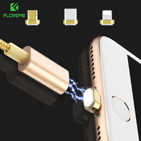FLOVEME 3 In 1 Magnetic Cable Micro USB Type C For Lightning To USB Cable Magnet